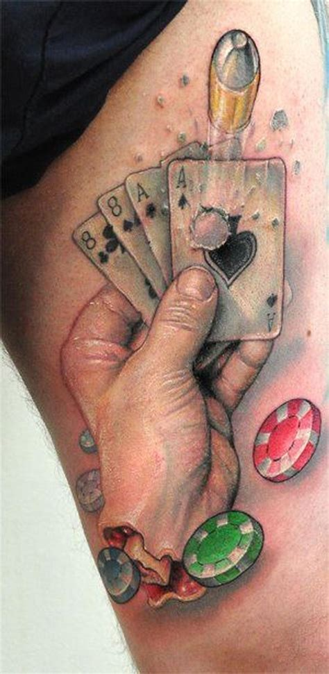 dead mans hand tattoo by bez tattoonow
