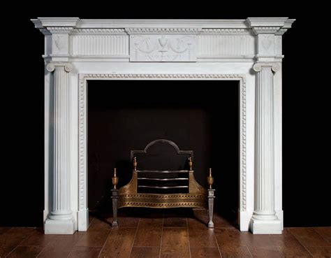 Georgian Fireplace by A White Marble Fireplace In The Georgian Neo