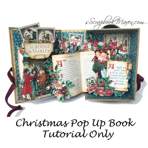 scrapbook maven tutorial christmas carol pop up shadow box tutorial scrapbook maven
