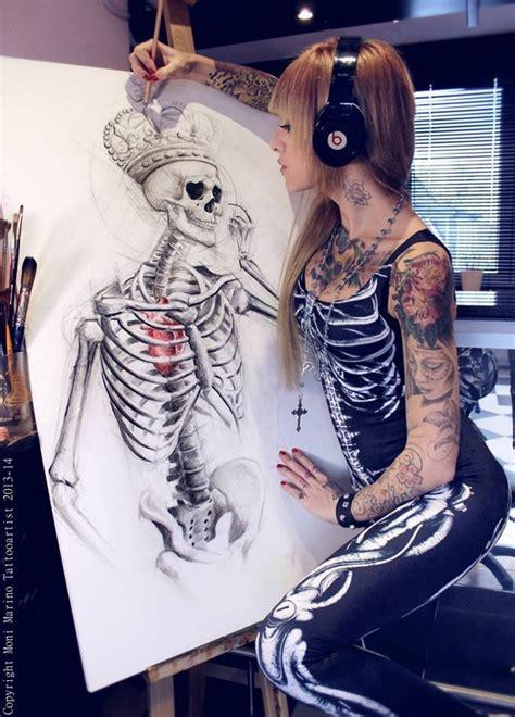 hot tattoo artists girl unisex glow skeleton cotton spandex jersey legging