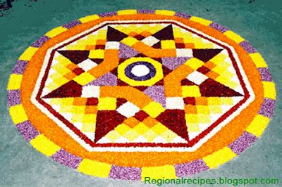 Lu Uv Kolam indian temples churches mosques and festivals kerala festival onam pookalam
