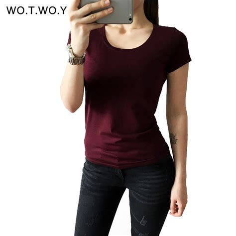 Azura Fashion Womens Basic Tshirt High Neck Sleeve high quality 21 color cotton basic t shirt