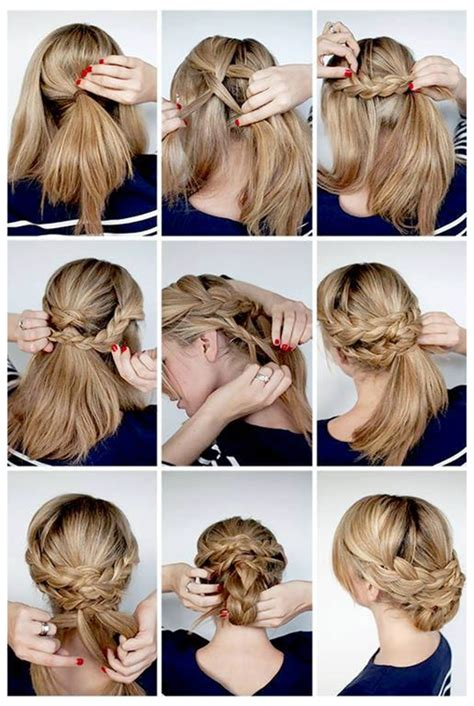 holiday braided updo tutorial medium hairstyle for long hair 5 easy hairstyle tutorials with simplicity hair extensions