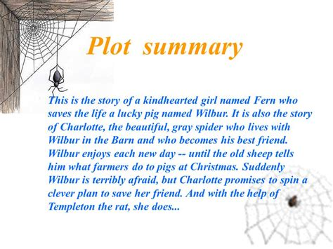 Or Plot Summary S Web By E B White Ppt