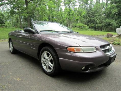 1996 Chrysler Sebring Jxi by Buy Used 1996 Chrysler Sebring Jxi Convertible With No