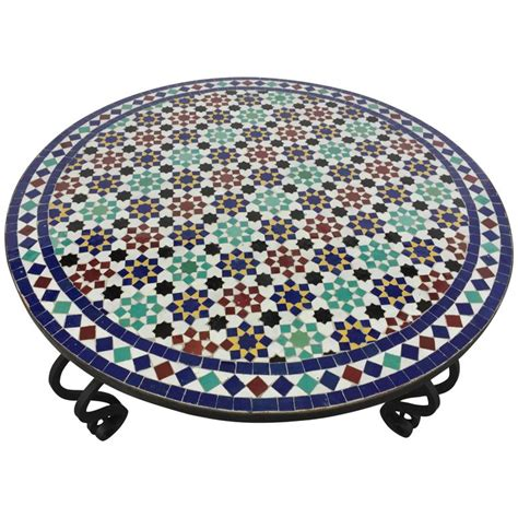 Outdoor Mosaic Coffee Table Mosaic Outdoor Tile Coffee Table From Morocco For Sale At 1stdibs
