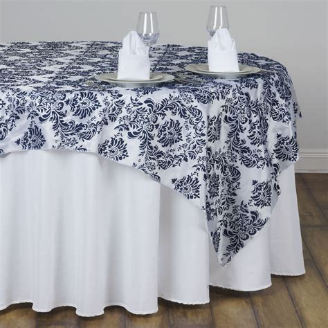 wedding table overlays 6 pcs 60 quot x60 quot damask flocked table overlays wedding