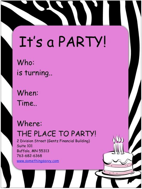 free birthday party invitations templates afoodaffair me