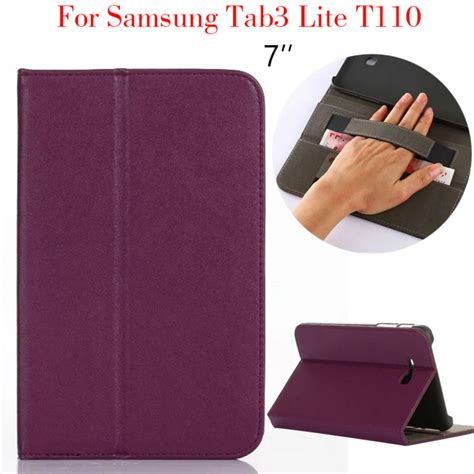 Leather Samsung Tab 3 Lite tab 3 lite t110 tablet pu leather cover for samsung galaxy tab3 lite t110 7 funda stand
