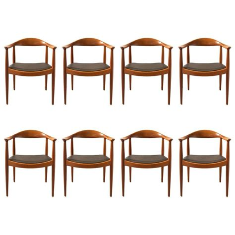 round back dining room chairs hans wegner set of eight round back dining chairs in