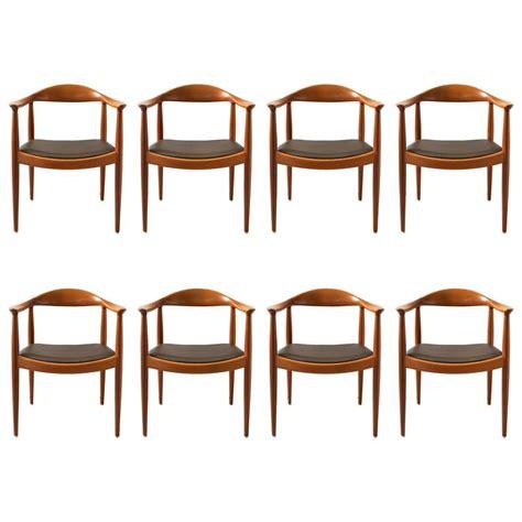 round back dining room chairs hans wegner set of eight round back dining chairs in