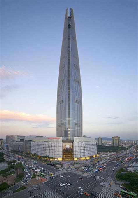world tower the lotte world tower by kpf opens in seoul