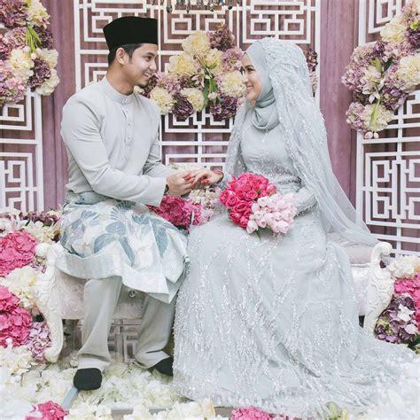 design baju pengantin hanis zalikha majlis nikah hairul azreen hanis zalikha dress
