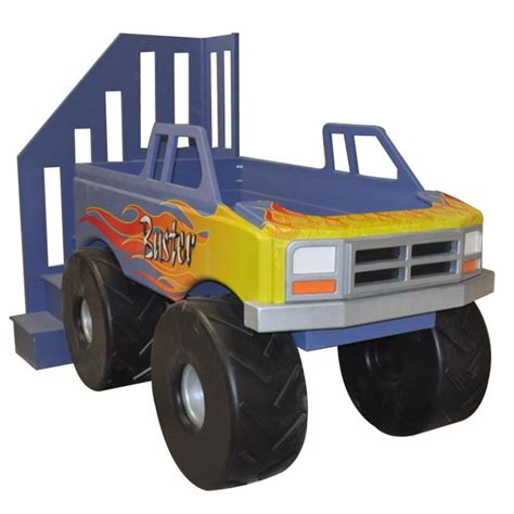 kids monster truck monster truck theme bed