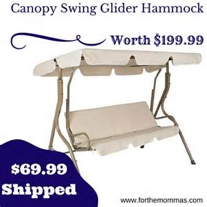 Cvs Patio Furniture Outdoor 2 Person Canopy Swing Glider Hammock Only 69 99