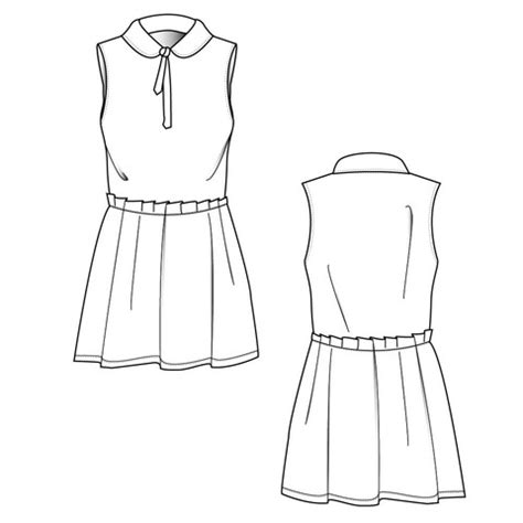 Women S Dress Fashion Flat Template Fashion Technical Pinterest Fashion Flats And Fashion Technical Flat Template