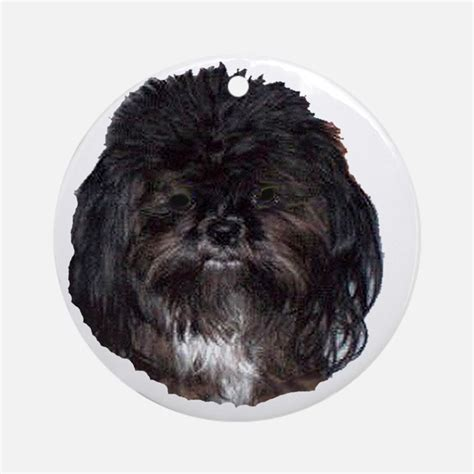 shih tzu ornament black shih tzu ornaments 1000s of black shih tzu ornament designs