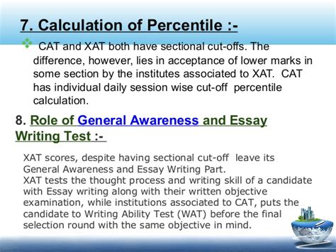 xat marks pattern xat 2014 how different from cat