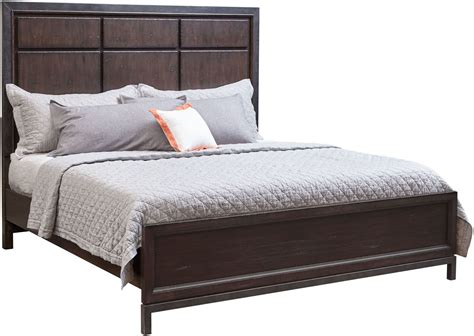 fulton bed fulton st brown queen panel bed s086 250 51 400 samuel