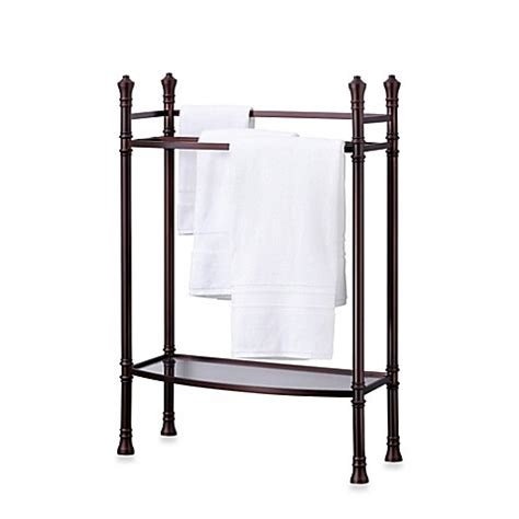 bathroom towel stands monaco no tools towel stand in oil rubbed bronze bed