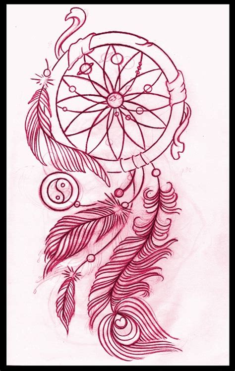 dreamcatcher tattoo design by thirteen7s on deviantart