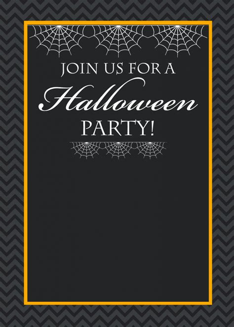 free printable halloween borders invitations free printable halloween party invitations yellow bliss road