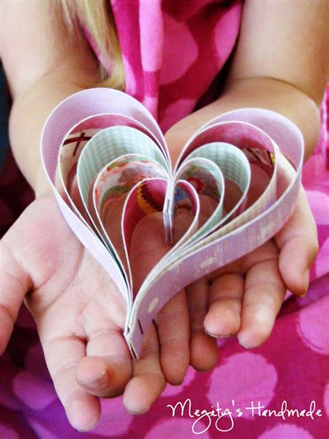 Handmade Paper Hearts - tiny bubbles 3d paper hearts diy project the start