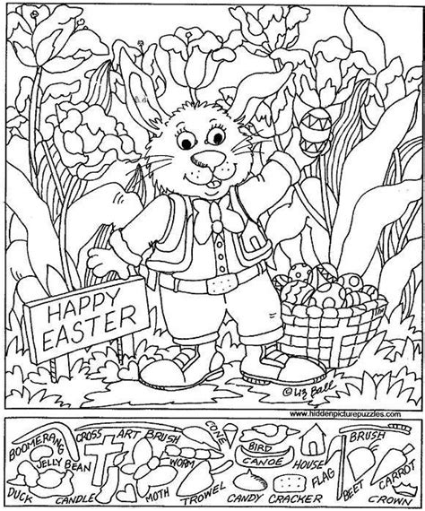 printable hidden pictures for easter free puzzles