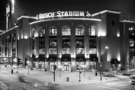 Lights Journey Bill Grant Photography Black And White Busch Stadium