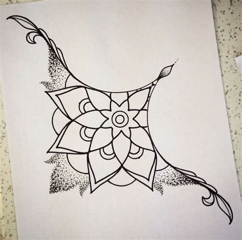 mandala sternum tattoo sternum add a bit of color and i it simple