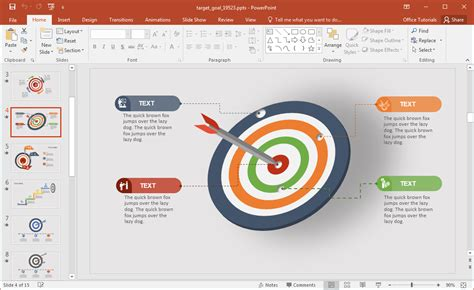 ppt templates for goal setting animated target goal powerpoint template