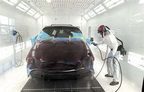 new paint performance collision center offers new paint booth