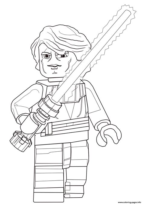 lego wars coloring pages pdf lego wars anakin skywalker coloring pages printable