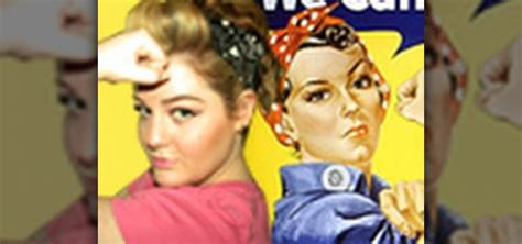 how to get a rosie the riveter patriotic wwii hairstyle