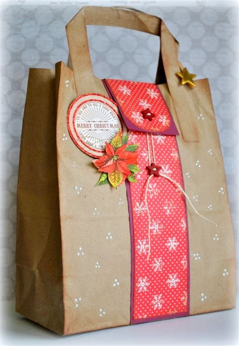 xmas decorated brown paper bags handbag gift ideas handbag ideas