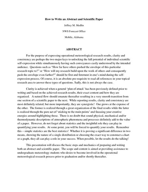thesis paper abstract exle apa reaction paper