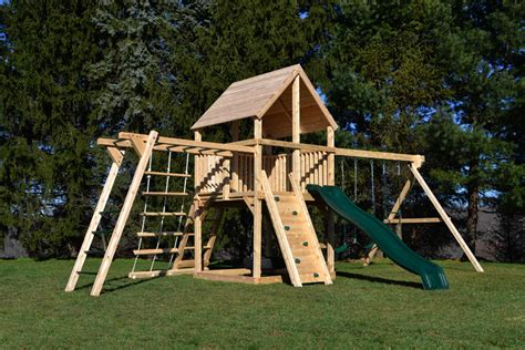 swing sets with monkey bars cedar swing sets the bailey climber with options