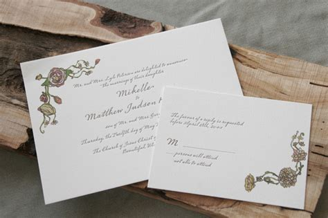 custom wedding invitations riverside ca mikelle judson letterpress gicl 233 e wedding
