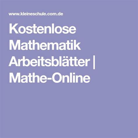 kostenlose mathematik arbeitsblaetter mathe