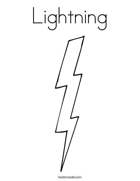 Flash Lightning Bolt Outline by Lightning Coloring Page Twisty Noodle