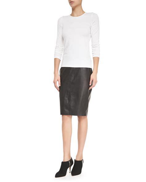 bailey 44 high waist faux leather pencil skirt