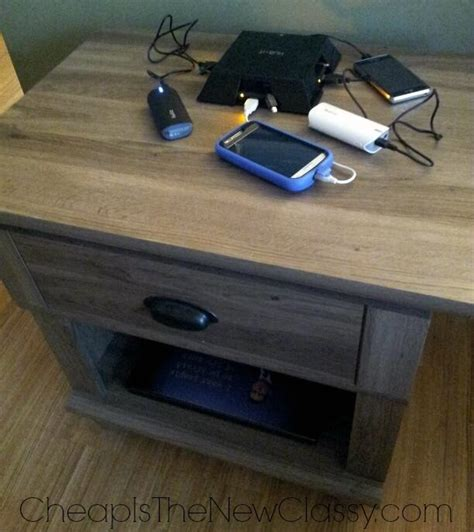 diy charging table diy charging station and tech pier