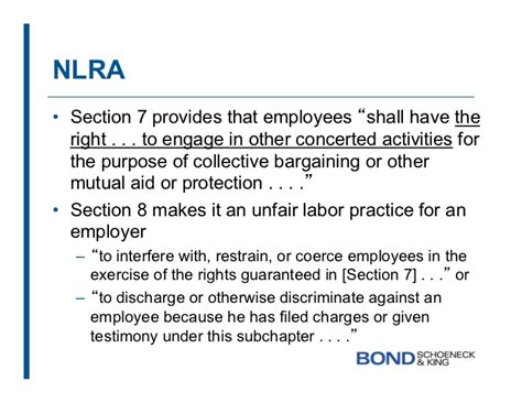 nlra section 9 legal aspects relating to social media in the workplace