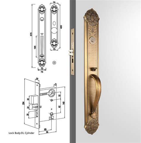 Exterior Door Handle Sets Antique Bronze American Standard Cylinder Entrance Handleset Lock Lever Locksets