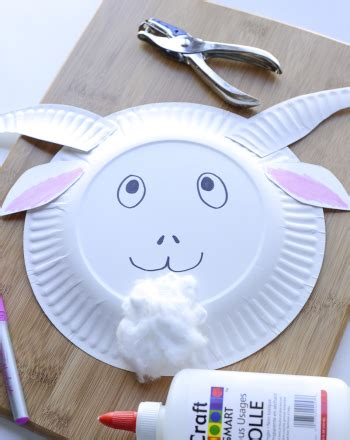 Goat Paper Plate Craft - three billy goats gruff masks activity education