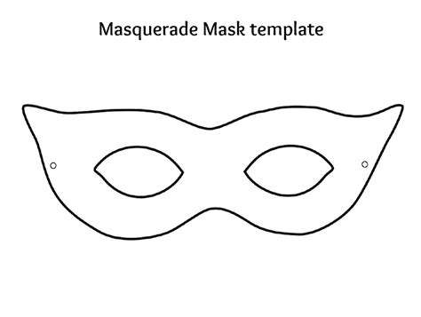 7 best images of plain masks templates printables