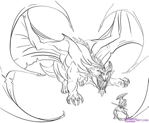 dragon slayer coloring page dragon drawings in pencil how to draw a dragon slayer