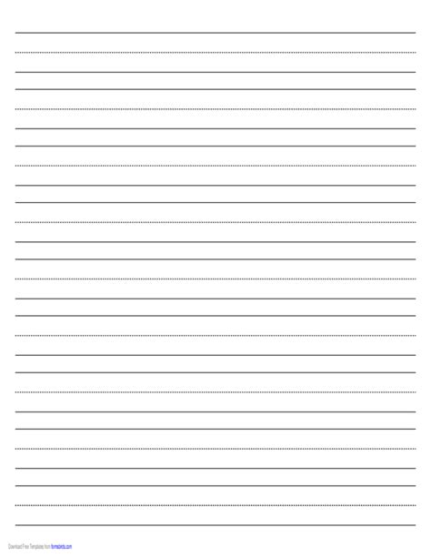 Penmanship Paper With Nine Lines Per Page In Landscape Orientation Free Download Genkouyoushi Paper Template