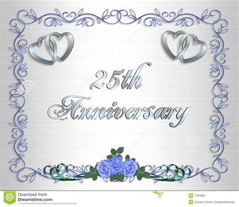 25th anniversary invitation card templates wedding anniversary invitation template free