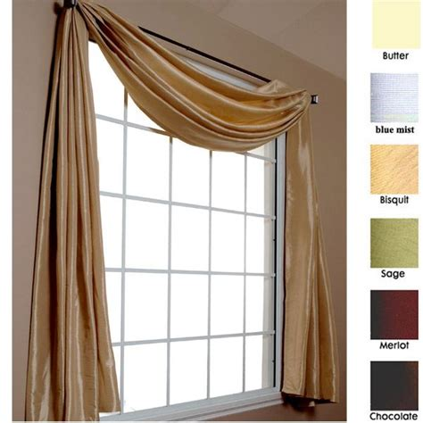 Swag Curtains With Valance Hadley 216 Scarf Window Valance By Softline